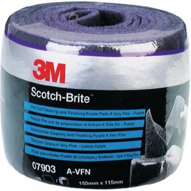 3M 07903 Scotch-Brite Schuurpads AVFN Paars - Pre-Cut