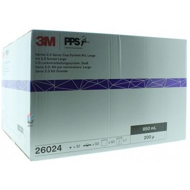 3M 26024 PPS 2.0 Kit Groot 850ml - 200mu - 50 binnenbekers + deksels