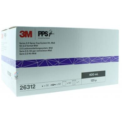 3M 26312 PPS 2.0 Kit Midi 400ml - 125mu - 50 binnenbekers + deksels