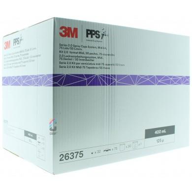 3M 26375 PPS 2.0 Kit Midi 400ml - 125mu - 50 binnenbekers + 75 deksels