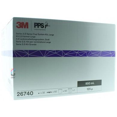 3M 26740 PPS 2.0 Kit Groot 850ml - 125mu - 50 binnenbekers + deksels