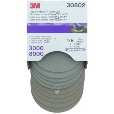 3M 30802 Trizact Schuurschijven KIT 150mm - 5x P3000 + 5x P8000