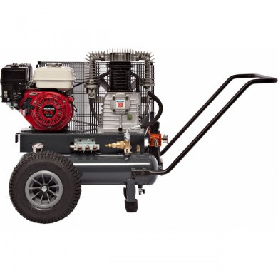 AIRMEC TTS34110-900 Mobile Oil Lubricated Piston Compressor with Gasoline Engine - 900 ltr/min,  11 hp