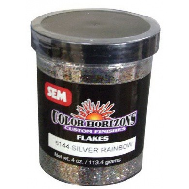 SEM Horizon Custom Finish Metal Flakes (Glitters) 06144 SILVER RAINBOW