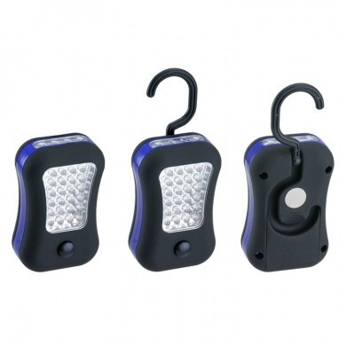 Round LED Worklight with 24 LED's, Magnet and Swivel Hook