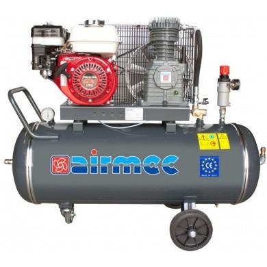 AIRMEC CRS105 Verrijdbare Oliegesmeerde zuigercompressor met benzinemotor 350 ltr/min - 5,5 pk