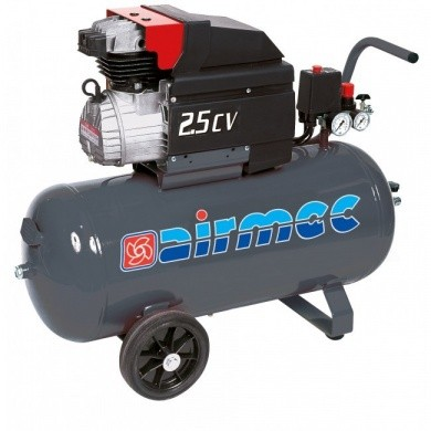 AIRMEC KA25280 Mobile Oil Lubricated Piston Compressor - 285 ltr/min, 2.5 hp