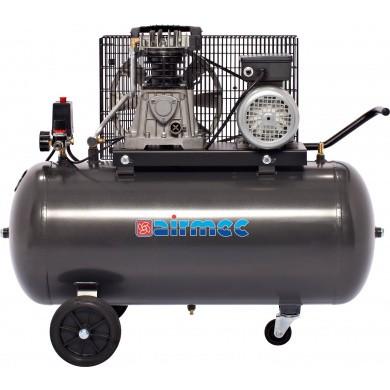AIRMEC KF150410M Verrijdbare Oliegesmeerde zuigercompressor 410 ltr/min - 3 pk - 220V