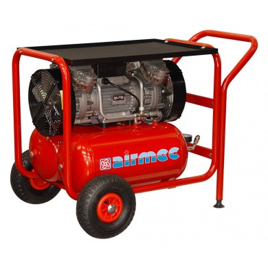 AIRMEC KZ480-50 Verrijdbare Olievrije zuigercompressor 480 ltr/min - 2,5 pk