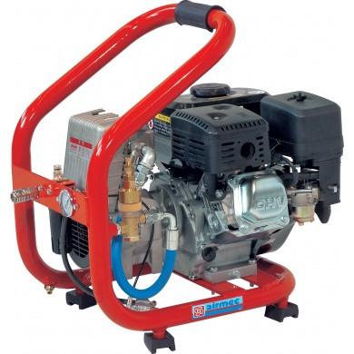 AIRMEC MICRO 02/260 Draagbare Oliegesmeerde zuigercompressor met benzinemotor 260 ltr/min - 4 pk