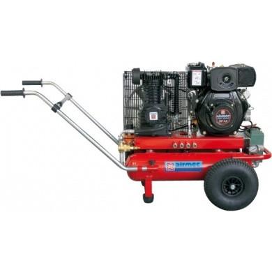 AIRMEC TTS2265/550 Verrijdbare Oliegesmeerde zuigercompressor met benzinemotor 550 ltr/min - 6,5 pk