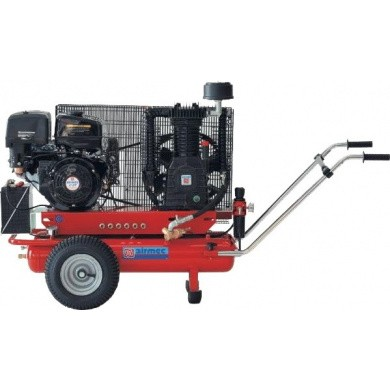 AIRMEC TTS34110-900 Oliegesmeerde zuigercompressor + benzinemotor + electrisch gestart 900 ltr/min - 11 pk