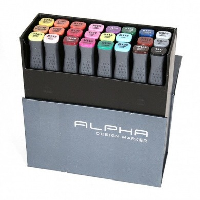 MONTANA Alpha Design Twin Markers - Colour Main, 24 pieces
