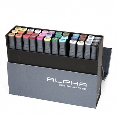 Montana ALPHA DESIGN TWIN Markers - 36 Set - Color