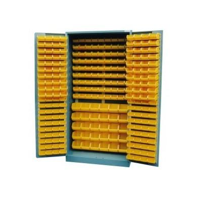 Bakkenkast met deuren (incl. 271 kunststof bakken)