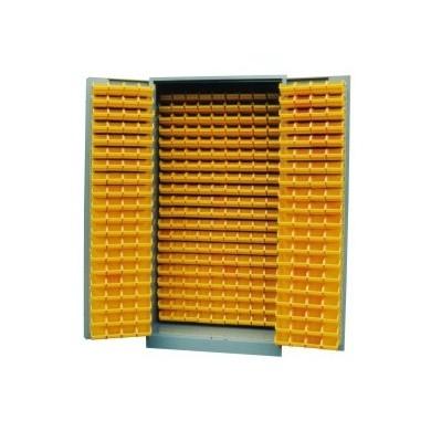 Bakkenkast met deuren (incl. 340 kunststof bakken)