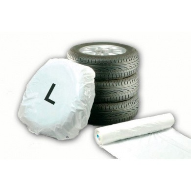 EUROMASK Tire Covers and Bags on Roll - Large