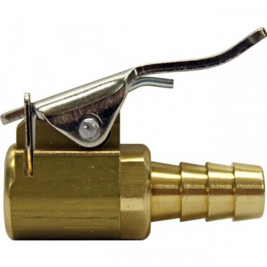 Inflator Valve 6mm Brass Clip On Air Chuck Connector