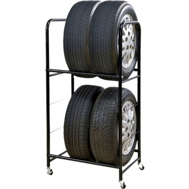 Tyre Tree & Rim Stand - Mobile Storage Rack - for 225mm Alloy or Seasonal Wheels