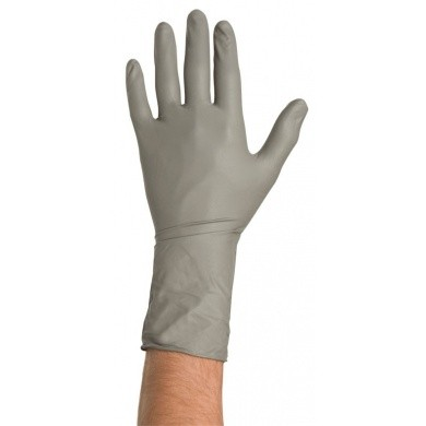 COLAD Nitril Handschuhe Grau 50 Stck (extra lang & extra stark)