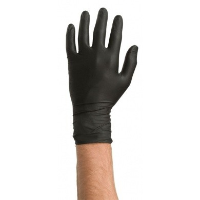 COLAD Nitrile Gloves - Black, 60 pieces