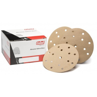 COLAD Velcro Sanding Discs with 15 Holes - 150mm, 100 pieces