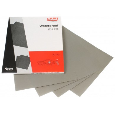 COLAD Waterproof Sandpaper - 230x280mm, 50 pieces