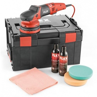 FLEX XCE 10-8 125 P-SET Excentrische polijstmachine met gekoppelde aandrijving + accessoires