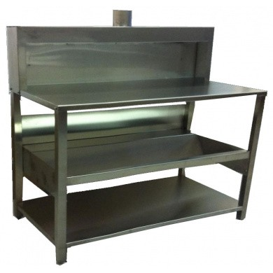 CAP Mixing Desk Stainless Steel with Suction