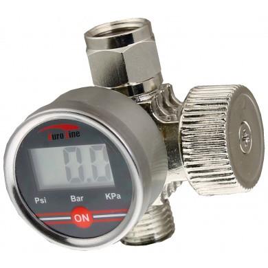 Digital Pressure Gauge with Air Regulator Chrome Plated