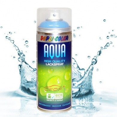 DupliColor Aqua Spray BLANKE LAK HOOGGLANS in 350ml Spuitbus OP WATERBASIS