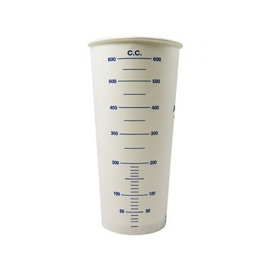EURO-LINE Carton Disposable Mixing Cups with Scale - 600ml, 50 pieces