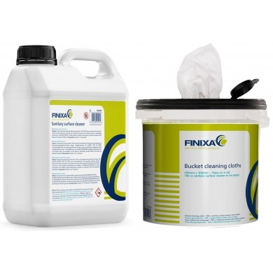 FINIXA Desinfecterende doekjes in emmer met desinfectiemiddel - COMPLETE SET