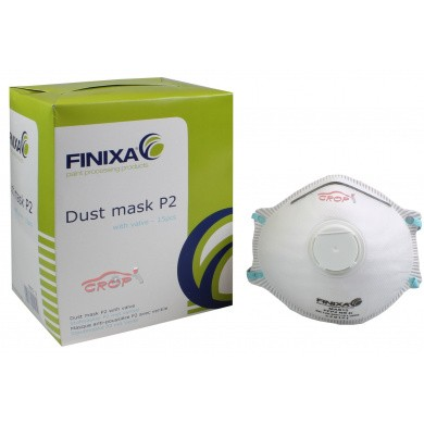 FINIXA P2 Fine Dust Masks with Exhalation Valve - 15 pieces