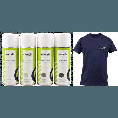 FINIXA Primers 12 Spuitbussen + Gratis T-Shirt!