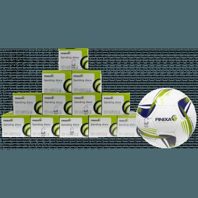 FINIXA Schuurschijven 150mm - 8 doosjes + GRATIS Voetbal