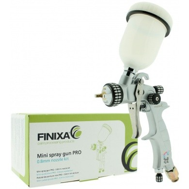 FINIXA PRO Mini Verfspuit LVLP + bovenbeker