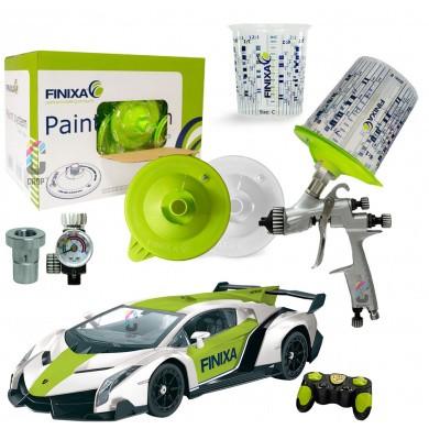 FINIXA Verfspuit & FPS Wisselbeker Starterset + GRATIS Racing Auto