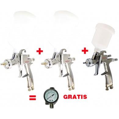 FINIXA Professional Top Cup Paint Spray Guns Set