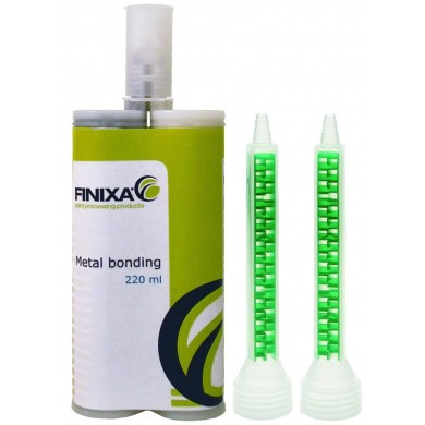 FINIXA 2K Epoxy Metaallijm 220ml - Zwart