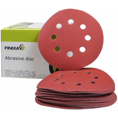 FINIXA Sanding Discs with 8 Holes - 125mm, 100 pieces