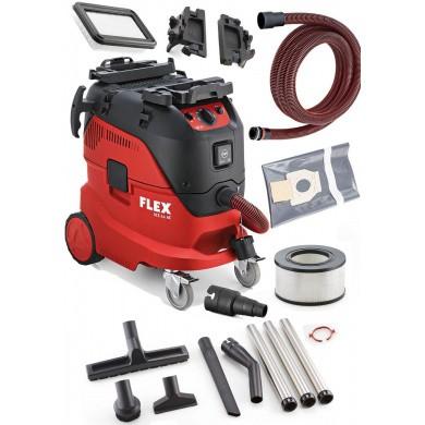 FLEX VCE 44 H AC-KIT Industrie Stofzuiger 1400 Watt met 42 liter ketel & automatische filterreiniging net accessoires Klasse H