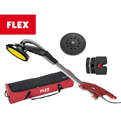 FLEX GE 5 R + TB-L Giraffe Wall and Ceiling sander 225mm with Round Sanding Head and Revolving Edge Segment in a Carrying Case