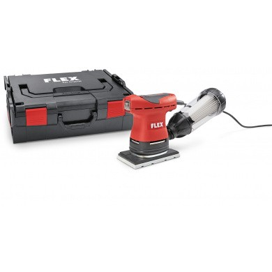 FLEX OSE 80-2-SET Mini Orbital Palm Sander 80x130mm with speed control, dust extraction and microfilter cartridge with filter