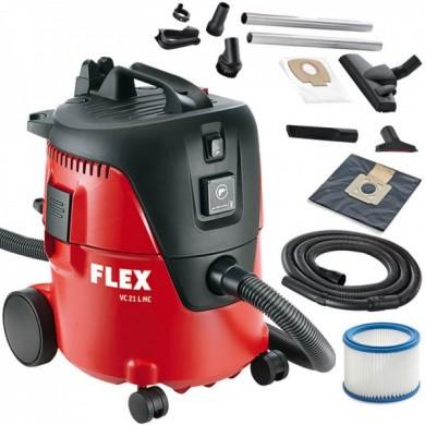 FLEX VC 21 L MC Schuurstofzuiger 1250 Watt met 20 liter ketel en handmatige filterreiniging
