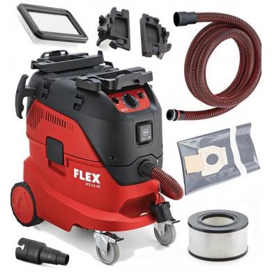 FLEX VCE 44 H AC Industrie Stofzuiger 1400 Watt met 42 liter ketel & automatische filterreiniging Klasse H