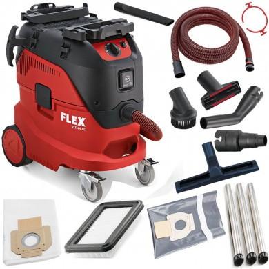 FLEX VCE 44 L AC-KIT Industrie Schuurstofzuiger 1400 Watt met 42 liter ketel & automatische filterreiniging incl. accessoires Klasse L