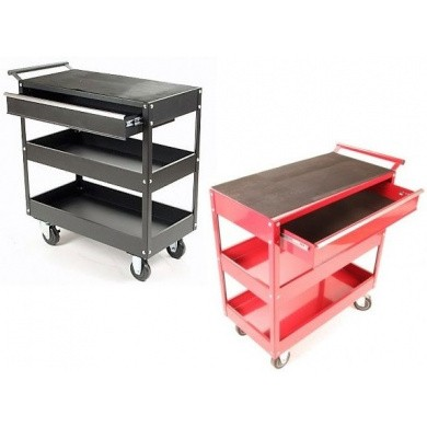 Tool Trolley with two open compartments and a drawer