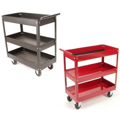 Tool Trolley with three open compartments