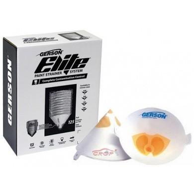 GERSON Elite Nylon Verfzeefjes 260 micron - Medium Grof Oranje - 125 stuks
